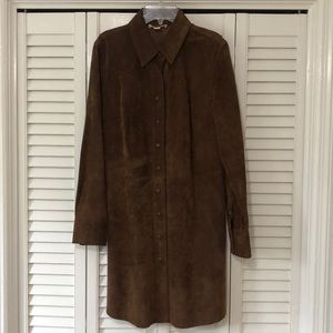 100% suede leather duster